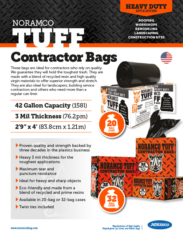 Noramco TUFF Contractor Bags